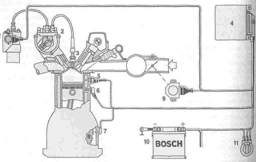 Схема электронного зажигания EI